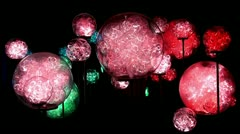 Mystical twinkling lights (fiber optics lamp) Stock Footage