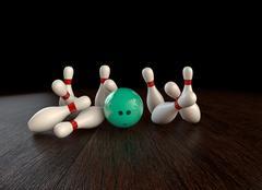 Stock Illustration of Bowling strike