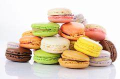 tasted macaroons - stock photo