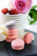 lovely macarons - stock photo