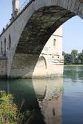 Pont saint-bénezet, the pont in avignon Stock Photos