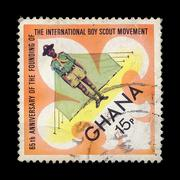 Boy scout postage stamp Stock Photos