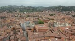 Aerial view of the Bologna city in Italy Stock Footage