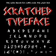 Scratched typeface Stock Illustration
