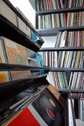 vinyl records collection - stock photo