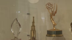 Award display case (1 of 1) Stock Footage