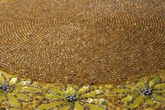 Antique beaded mat Stock Photos