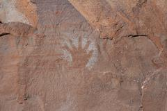 Pictograph hand Stock Photos