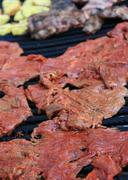 flank steak barbecue - stock photo