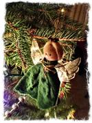 Christmas Tree Angel - stock photo