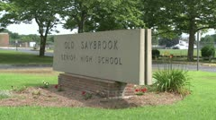 Old Saybrook High School (6 of 6) Stock Footage