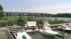 Docked boats on the bay (5 of 5) Stock Footage