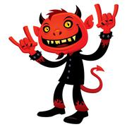 Heavy Metal Devil Stock Illustration