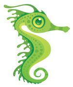 Leafy Sea Dragon Seahorse Stock Illustration