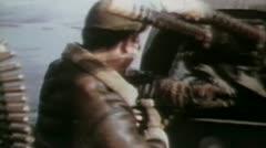 World war 2 - Arming Machine Guns Stock Footage