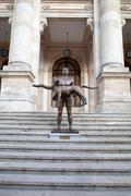 Naked statue of emperor trajan, bucharest, romania Stock Photos