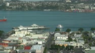 Stock Video Footage of Auckland ferry at Devonport wharf