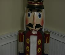 The giant Nutcracker - stock footage