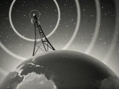 Retro Antenna Broadcasting Signal - stock footage