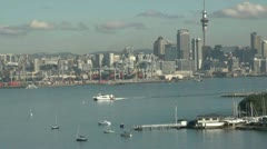 Auckland commercial wharf Stock Footage