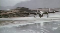 World War2 - Take Off At Aleutians Stock Footage