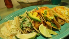mexican food - stock footage