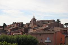 roussillon, the ochre village - stock photo