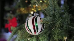 Christmas Tree Bulb Stock Footage