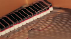 Piano Dampers Macro Stock Footage