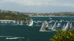 2012 sydney to hobart yacht race Stock Footage