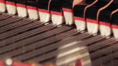 Piano Dampers and Hammers 2 Stock Footage