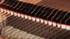 Piano Dampers and Hammers 1 Stock Footage