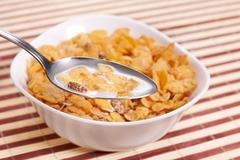 Healthy breakfast cornflakes Stock Photos