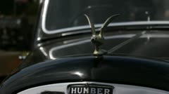 Close up of the front of a Humber Snipe Stock Footage