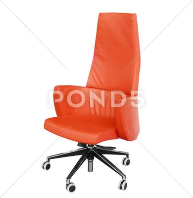Stock photo of office leather red chair.JPG