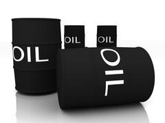 black oil barrels - stock illustration