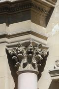 madeleine church in aix-en-provence, detail - stock photo