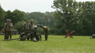 Stock Video Footage of Soldiers getting ready to do battle a a Second World War re-enactment