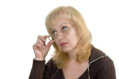 Stock Photo of the woman in glasses