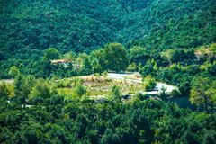 mountain view - national park olympus - stock photo