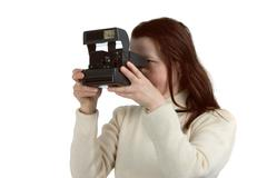 The woman with the camera Stock Photos
