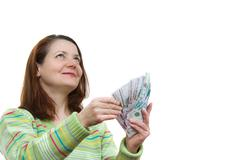 Stock Photo of the woman with money