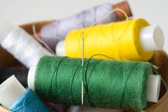 thread for sewing - stock photo