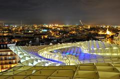Sevilla,spain -september 27: metropol parasol in plaza de la encarnacion on s Stock Photos