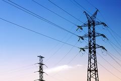 Transmission line Stock Photos