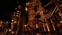 Night factory Stock Footage