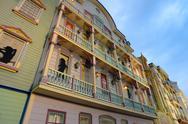 Retro antique building facade Stock Photos