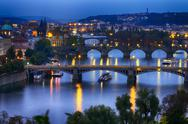 Stock Photo of prague at night