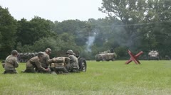 American and German soldiers fighting Stock Footage