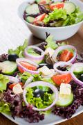 healthy fresh salad - stock photo